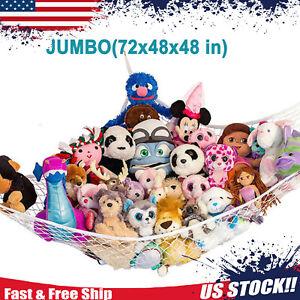 JUMBO Toy Hammock Hanging Corner Storage Net Kids Gift Stuffed Animals Organizer
