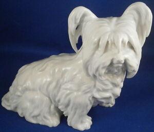 Augarten-Porcelain-Dog-Skye-Terrier-Figurine-Figure-Porzellan-Hund-Figur-Wien
