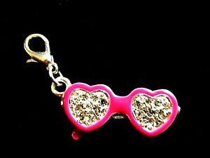 Cerise Pink enamel diamante sparkle Love heart sunglasses clip charm pendant 1034 - Nottingham, Nottinghamshire, United Kingdom - Cerise Pink enamel diamante sparkle Love heart sunglasses clip charm pendant 1034 - Nottingham, Nottinghamshire, United Kingdom