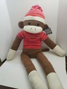 SOCK-MONKey-48-034-DAN-DEE-Collectors-Choice-Cuddly-Classics-Stuffed-Animal-NEW-tag