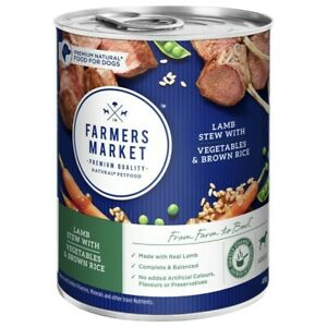 Farmers Market Lamb Stew With Vegetables And Brown Rice Dog Food 400 gram