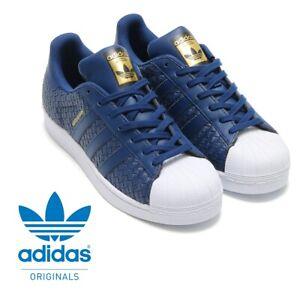 Detalles de Adidas Originales Superstar Zapatillas Azul Marino Blanco Talla 3.5 Niños Niñas Para mujeres nuevo ver título original