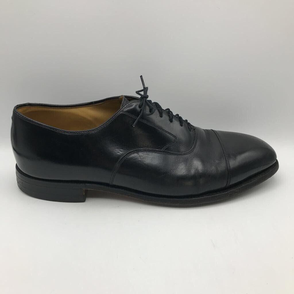 Johnston & Murphy Mens Optima Melton Oxfords Dress Shoe Black Leather 11 D/B
