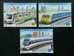 SJ-Malaysia-Modernisation-Of-Rail-Transport-1998-Train-MRT-stamp-MNH