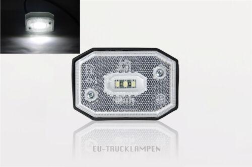 65 x 42 mm // UNI FÜR 12-24 VOLT 3 LED WEIß REFLEKTOR LED UMRISSLEUCHTE