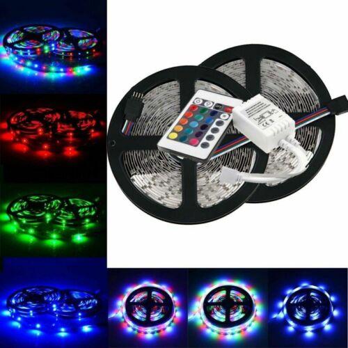 24 Key Remote Controller 10M 3528 SMD RGB Flexible LED Light Strip 600LEDs Kit