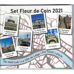 BELGIQUE 2021 SERIE 10 MONNAIES BU