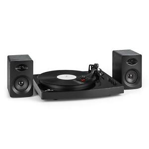 schall plattenspieler turntable stereo lautsprecher boxen bluetooth 33 45 u min ebay. Black Bedroom Furniture Sets. Home Design Ideas