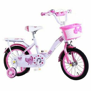 TYNEE™ CHILDREN'S GIRLS PINK BIKE BICYCLE WITH REMOVABLE STABILISERS 14 INCH UK