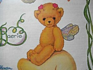 VINTAGE-ADORABLE-TEDDY-BEAR-034-WOODLAND-FAERIE-034-BY-SUSAN-HOFFMAN-UNCUT-1990