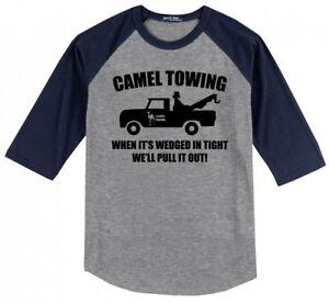 Camel-Towing-Rude-Humor-Funny-Mens-Raglan-Jersey-Tee-Shirt-Truck-Parody-Gift-X1