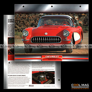 066-09-CHEVROLET-CORVETTTE-4-6-V8-1957-Fiche-Auto-Classic-Car-card