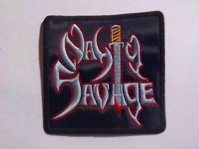 NASTY SAVAGE,SEW ON EMBROIDERED PATCH