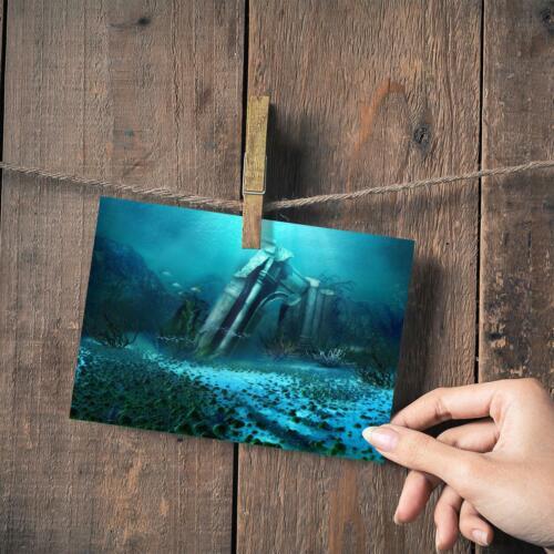 "Small Photograph 6/"" x 4/"" Art Print Photo Gift #14031 Underwater Ruins Atlantis"