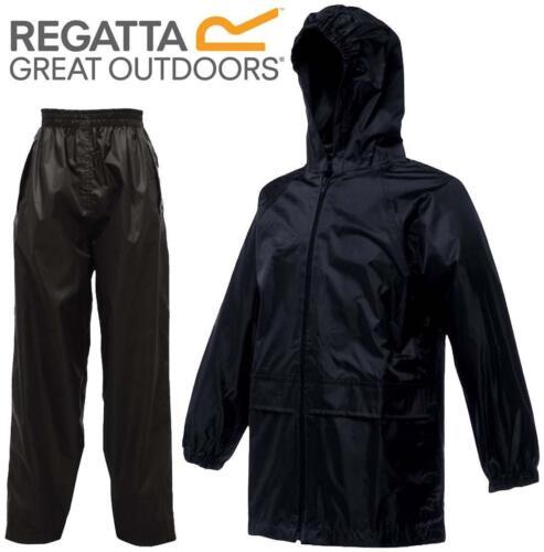 Regatta Stormbreak Kids Waterproof Rainsuit Jacket /& Trouser