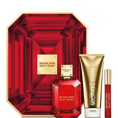 Michael Kors Sexy Ruby Geschenkset 100 ml EdP + 10 ml EdP + 100 ml Lotion NEU&OV