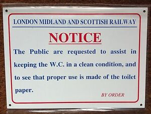 METAL-RAILWAY-SIGN-LMSR-NOTICE-PROPER-USE-OF-W-C
