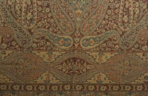 Wool Jamavar India Shawl Elegant Affordable Paisely Pashmina style Burgundy