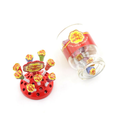 1:12 Dollhouse Miniature Simulation Food Mini LolliWith Case Holder P Mr
