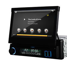 "Single 1Din In-dash Car Stereo Radio 7""HD Touch Screen DVD Player US Aux iPod C"