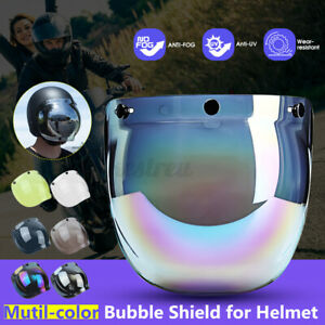 Motorcycle-Helmets-Bubble-Face-Mask-Shield-Lens-Visor-Windshield-T-K