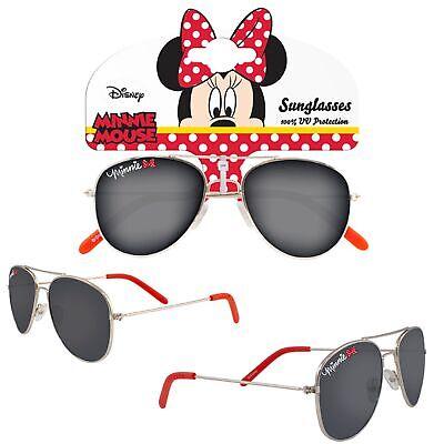 Le Ragazze Personaggio In Metallo Occhiali Da Sole Protezione Uv Per Le Vacanze-disney Minnie Mouse-mostra Il Titolo Originale