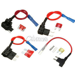 10 X ADD-A-CIRCUIT BLADE STYLE ATM Tap Piggy Back MINI FUSE HOLDER 15A FUSE
