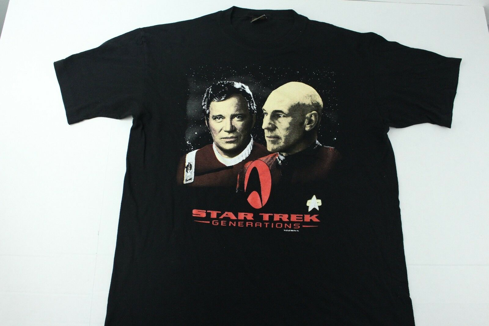 Vintage Star Trek Generations Captain Kirk Picard 1994 Graphic T Shirt  Herren XL