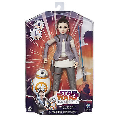 Star Wars Forces of Destiny Rey /& BB-8 Adventure Set Doll Action Figure New