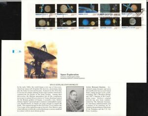 1991-Space-Exploration-Sc-2577a-booklet-pane-plate-no-111111-Fleetwood
