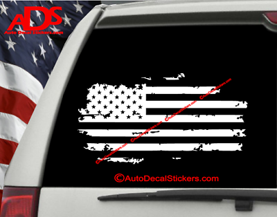 Sticker Window Decal Laptop Love, Car Thank and Support our Veterans w Flag