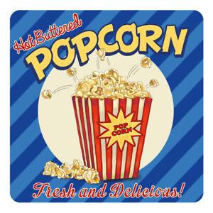 Details Sur Popcorn Style Americain Annees 50 Diner Cuisine Cafe Retro Table De Boissons