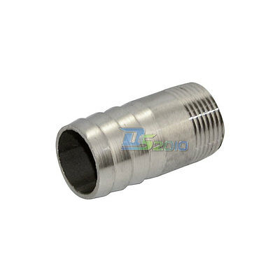 """3/4"""" Male Thread Pipe Fitting x 25 MM OD Barb Hose Tail Connector SS304 BSP NEW"""