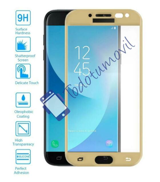 Protector de Pantalla Cristal Templado Completo Samsung Galaxy J5 2017 Dorado