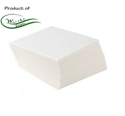 Parchment Paper Squares 500 Pack (All Sizes Available) by Worthy Liners