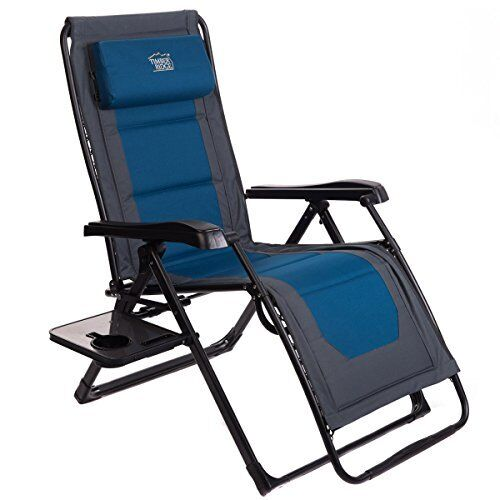 Zero Gravity Recliner OverGrößed XL Lounge Patio Chair Adjustable Padded 350lbs
