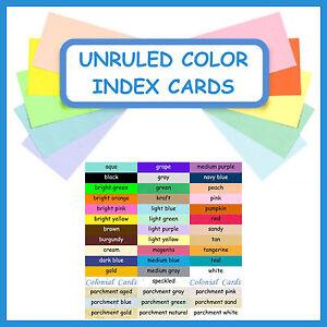 image is loading 150 3x5 index cards color cardstock blank unruled - 3x5 Index Card Printer