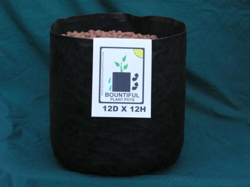 "fabric grow pots 10 ea reusable 12/""Dx12/""H .79 cu.ft Air /& Water permeable"