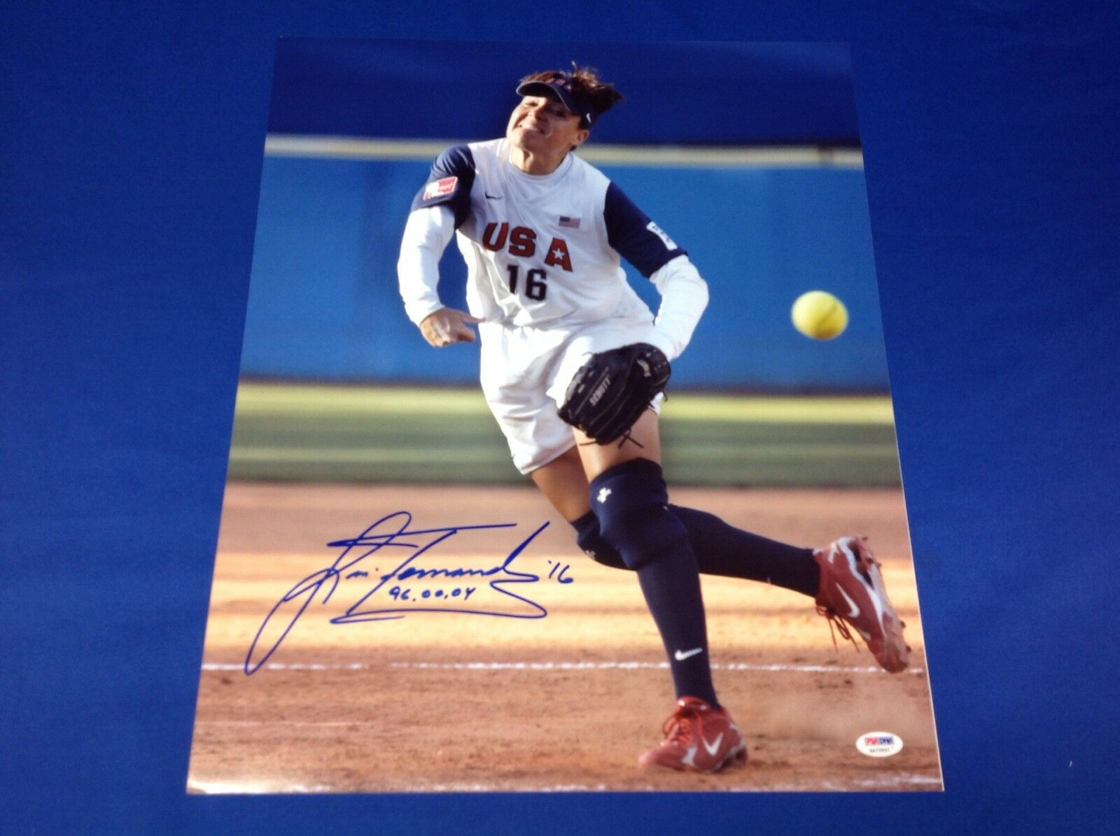 Lisa Fernandez Women Olympic Softball Team 16x20 Photo PSA/DNA #4A72841