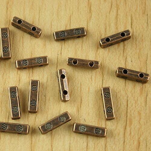 40pcs antiqued copper-tone 2 holes bar spacer beads h2364
