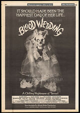 BLOOD WEDDING aka HE KNOWS YOU'RE ALONE__Original 1980 Cannes Trade AD / poster