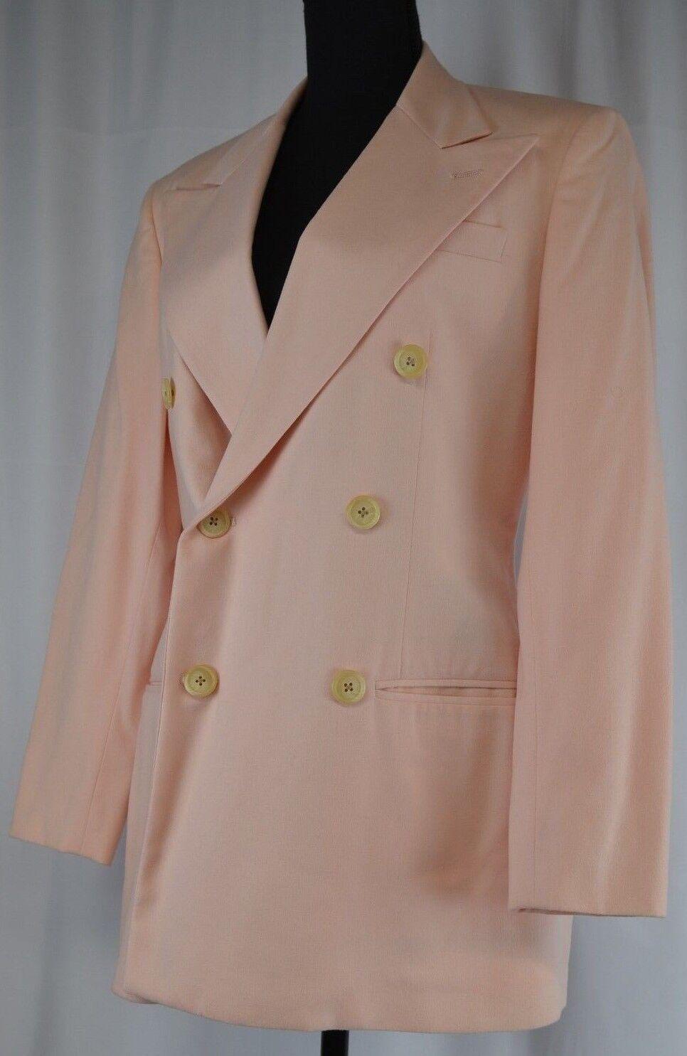 Ralph Lauren Women's Blazer Size 4 Pink Wool USA Career Double Breast Retro