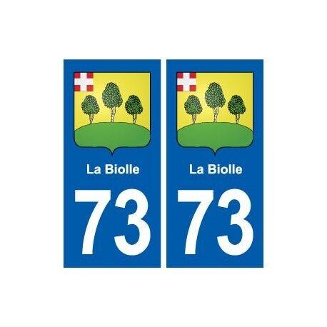 73 La Biolle blason autocollant plaque immatriculation ville droits