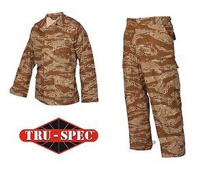 Desert Tiger Stripe Camo BDU Pants   Jacket 100% Cotton Ripstop Tru ... ac11edcda2b
