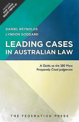 1 of 1 - Leading Cases in Australian Law: A Guide to the 200 Most Frequently Cited Judgme