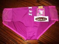 Maidenform Charmed Hipster Boyshort W Mesh Panties Purple Pk Co405 S