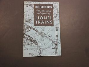 Lionel Postwar Instructions For Assembling and Operating Lionel Trains 1948