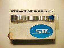 NOS RAR Vintage Steel STL Stelux Band f. Chronograph Diver Chronometer etc.