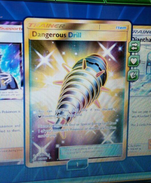 SR Dangerous Drill SECRET RARE for Pokemon TCG Online PTCGO, Digital Card