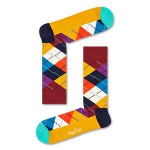 Calze-uomo-Happy-Socks-cotone-fantasia-multicolore-rombi-ARGYLE-SOCK